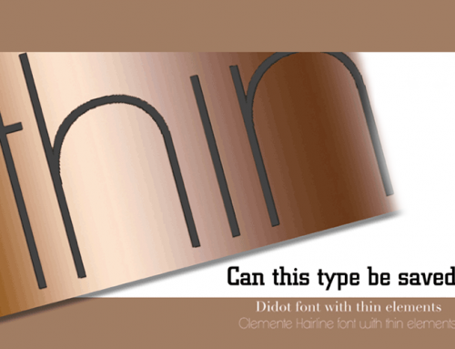 Fonts and Metallic Ink – Handle with Care.